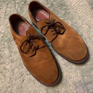 Johnston & Murphy Sheepskin Camel Dress Shoes